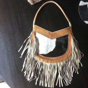 Lokoa fringe leather bag